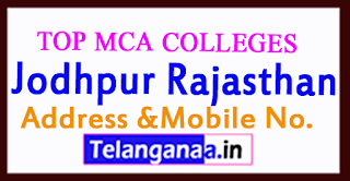 Top MCA Colleges in Jodhpur Rajasthan