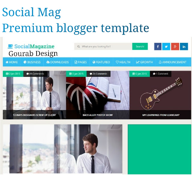 Social mag magazine style blogger template