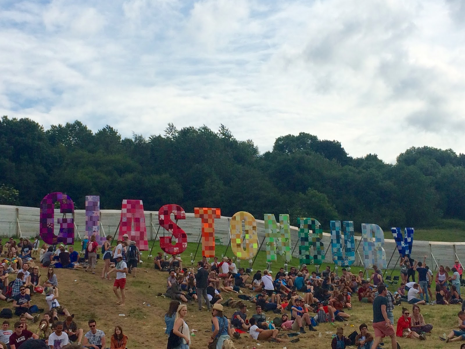 Iconic Glastonbury Sign at the Festival