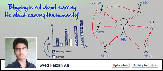 Blogging is not for Earning its for Humanity Timeline cover