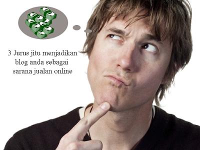 3 Jurus jitu menjadikan blog anda sebagai sarana jualan online