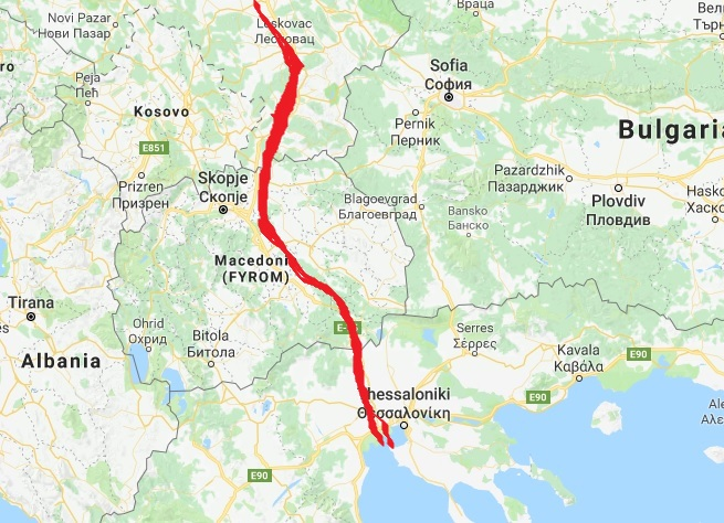 Navigable canal connecting danube with mediterranean sea an greece google maps screenshot illustration gumiabroncs Image collections