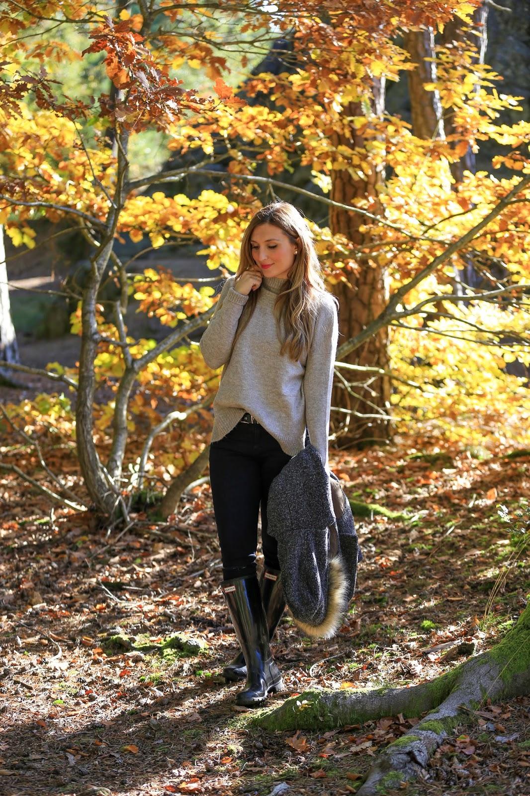 was-zieht-man-im-herbst-an-Herbst-Outfit-Schwarze-Hunter-schuhe