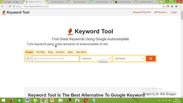 tools gratis untuk riset keyword
