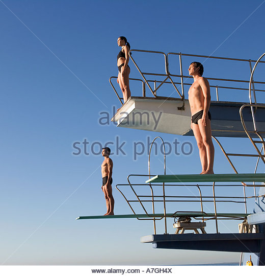 image of diving board with stock photo text