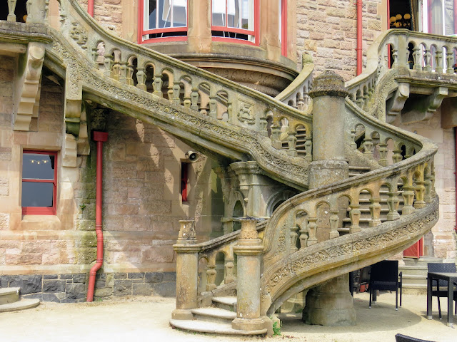 Cool things to see in Belfast: the spiral staircase at Belfast Castle