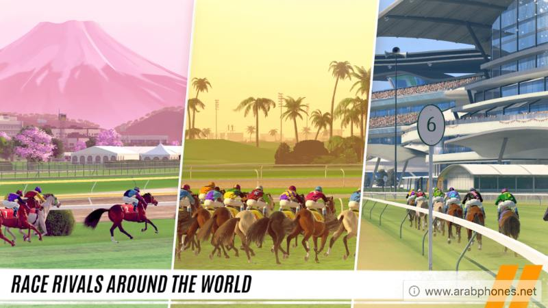 تنزيل لعبة Rival Stars Horse Racing مهكرة للأندرويد