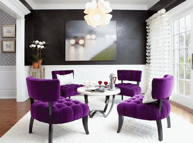 яркая мебель в интерьере