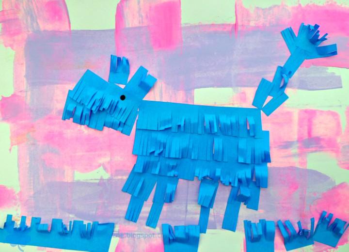 jak zrobić wyklejankę z pasków papieru