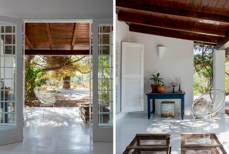 Un porche fresco y luminoso