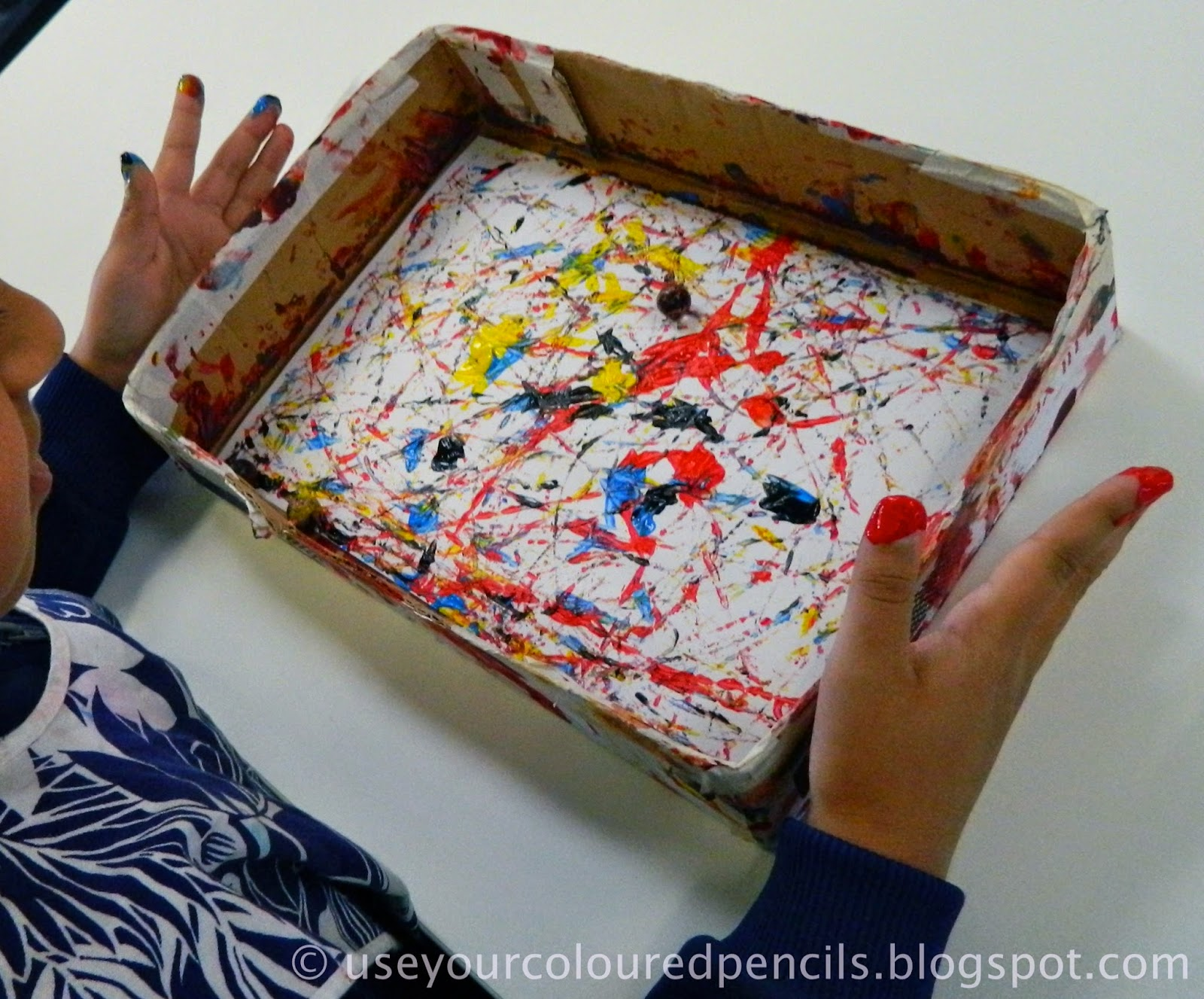 Use Your Coloured Pencils Marble Paintings In The Style