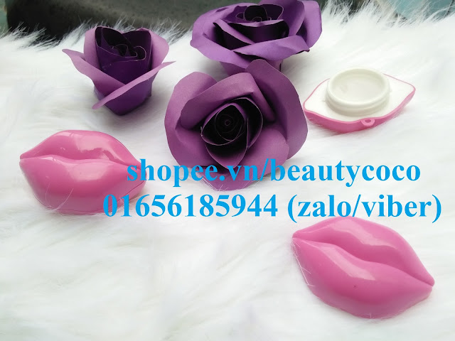 Hũ nhựa chiết mỹ phẩm hình môi hồng