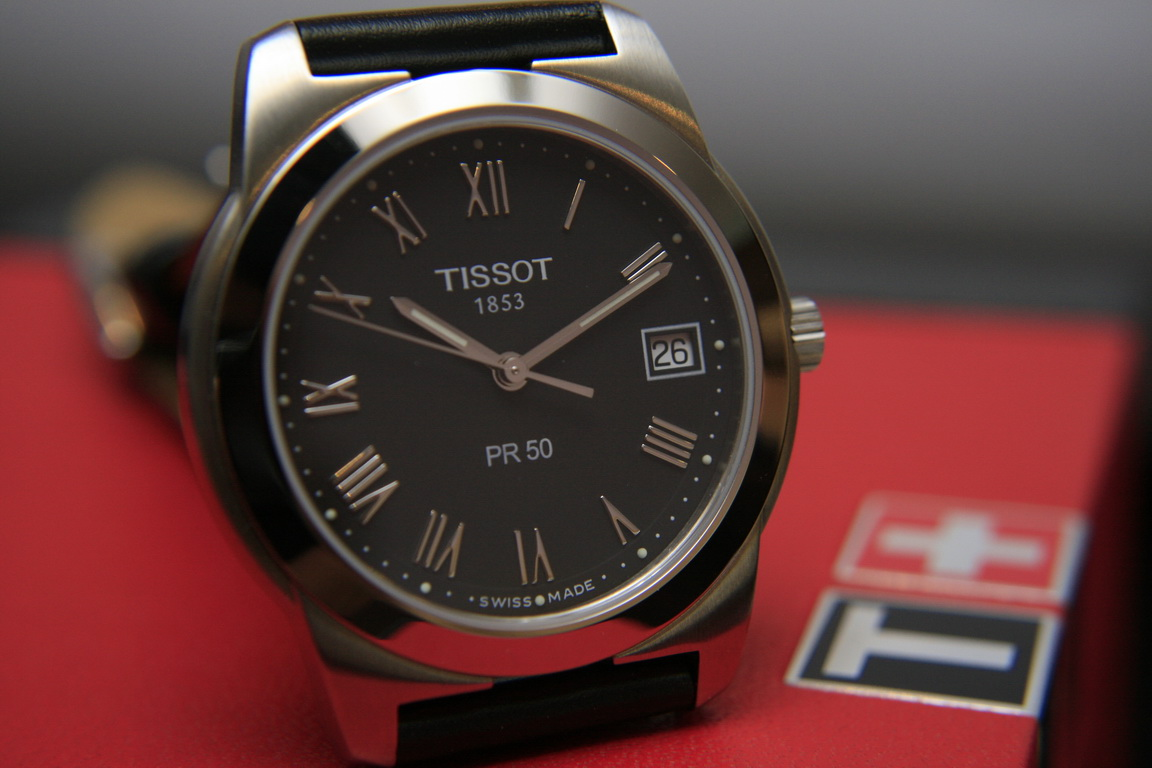 One Inch Time One Inch Gold Tissot Pr50 Quartz