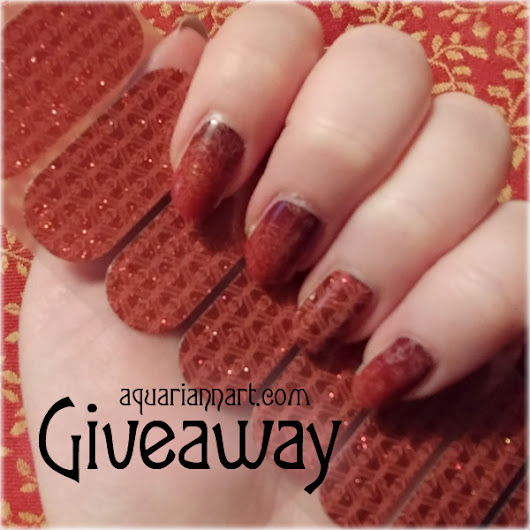 Jamberry Giveaway: Hot Toddy Nail Art