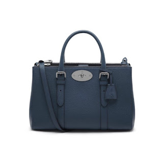 Mulberry Small Bayswater Double Zip Tote Regal Blue