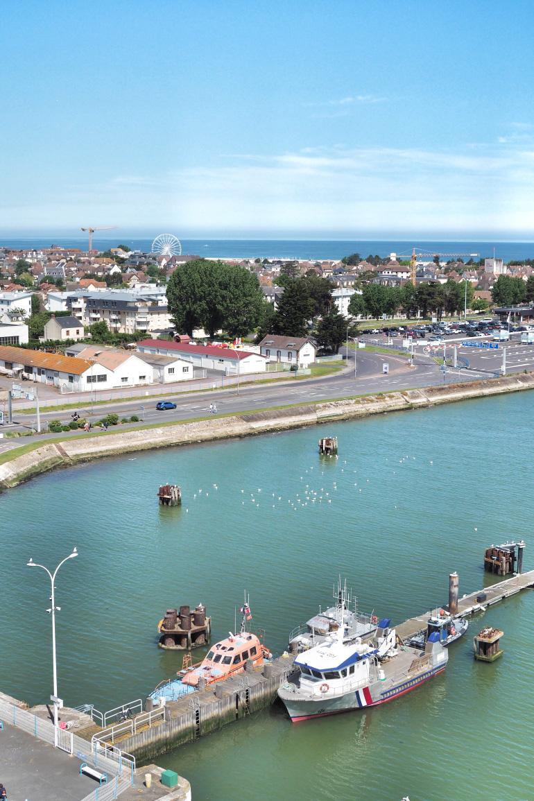 Vue sur Ouistreham en Normandie