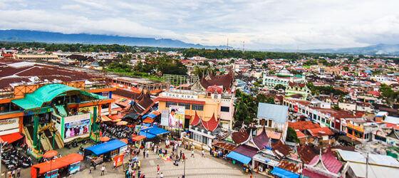 Pasar atas bukittinggi agam sumatera barat indonesia