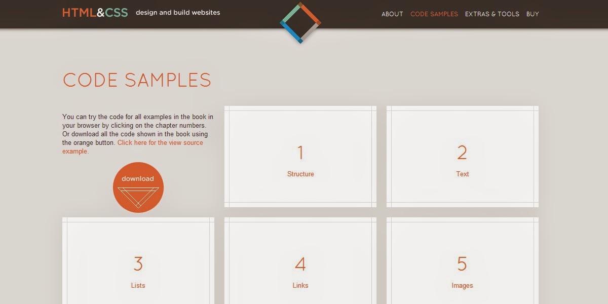 Source HTML dan CSS untuk belajar
