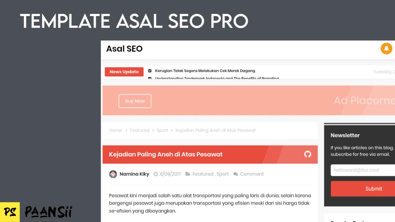Template Blogger Asal SEO Pro