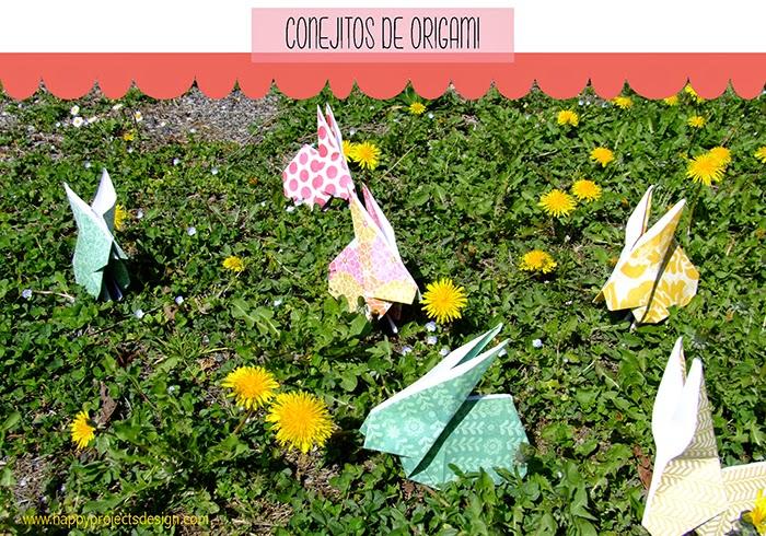 DIY Conejitos de Origami para Pascua
