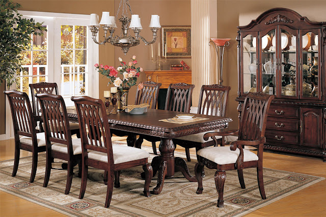 Perfect and Formal Dining Room Sets Perfect and Formal Dining Room Sets heavenly small bedroom with sweet bench idea and trendy wall light idea beside elegant bedboard design also foxy floor lamp idea