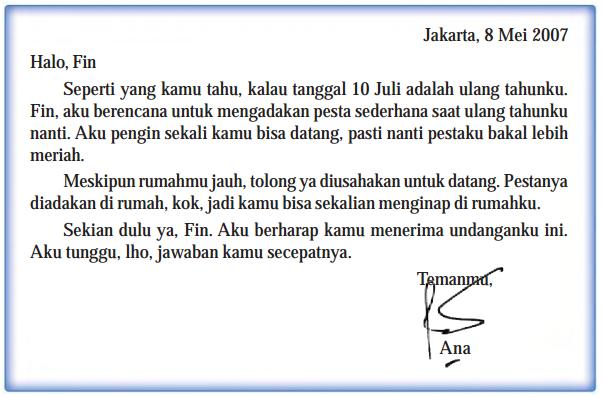 Contoh Surat Tidak Resmi Untuk Teman Dalam Bahasa Sunda