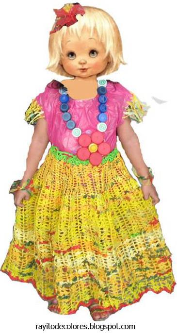 Vestido de bolsas de plástico