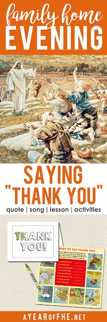 A Year Of FHE: Year 01/Lesson 46: Thanking Others