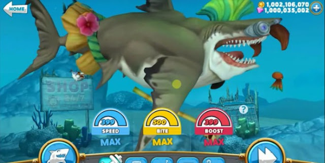 cheat hungry shark world unlimited money and gems