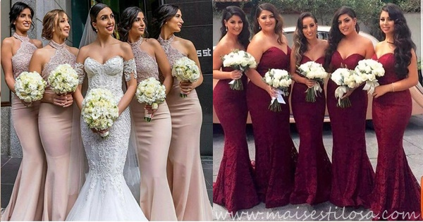 vestido longos para madrinhas de casamento