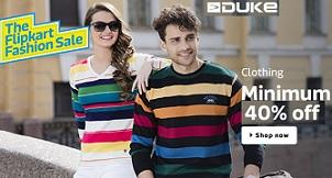 Duke Men's Clothing – Minimum 40% Off starts from Rs.240@ Flipkart
