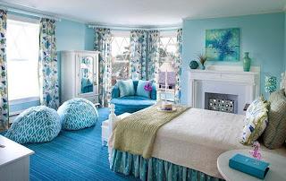 Kamar Tidur Warna Biru