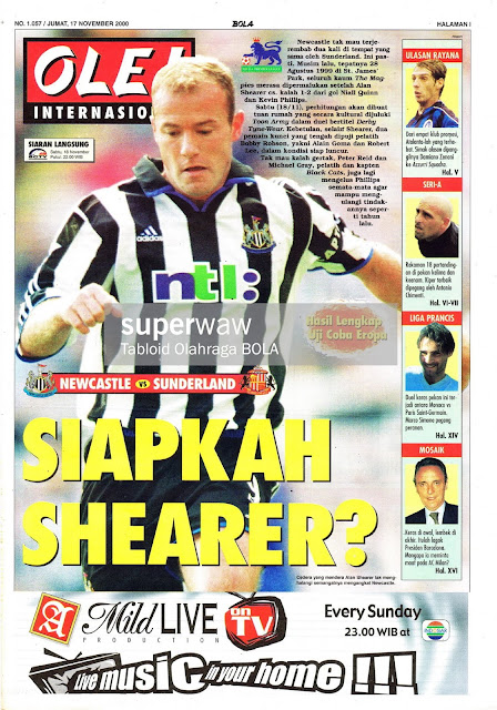NEWCASTLE VS SUNDERLAND ALAN SHEARER