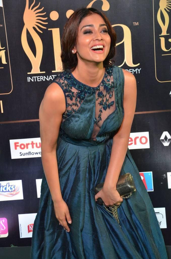 Telugu Actress Shriya Saran At IIFA Awards 2017 In Green Dress