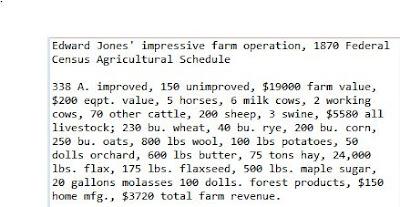 Edward Jones' farm in Mahoning County, Ohio, 1870