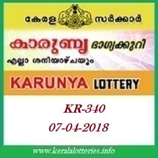 KARUNYA (KR-340) LOTTERY RESULT