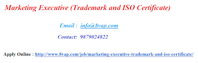 Marketing Executive (Trademark and ISO Certificate)
