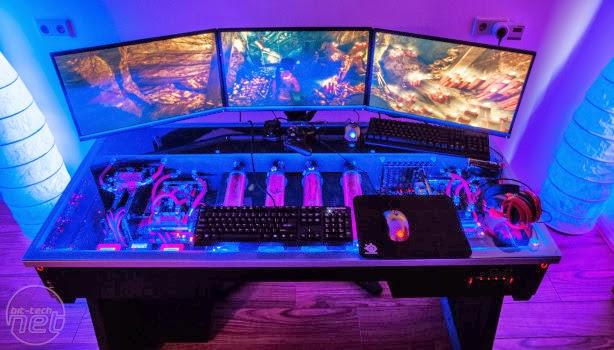 Diy Pc Desk Mods Red Harbinger Cross Pc Desk The