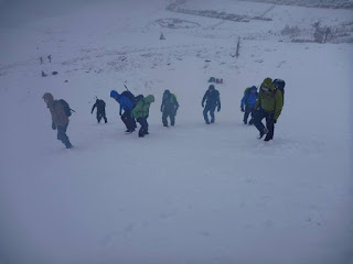 University club winter skills at Cairngorm