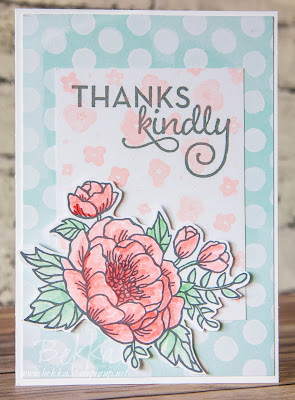 Floral Thank You or Mother's Day Card made using supplies from Stampin' Up! UK which you can get here
