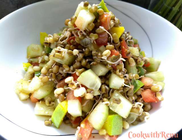 Sprouted Mung Bean & Mango Salad