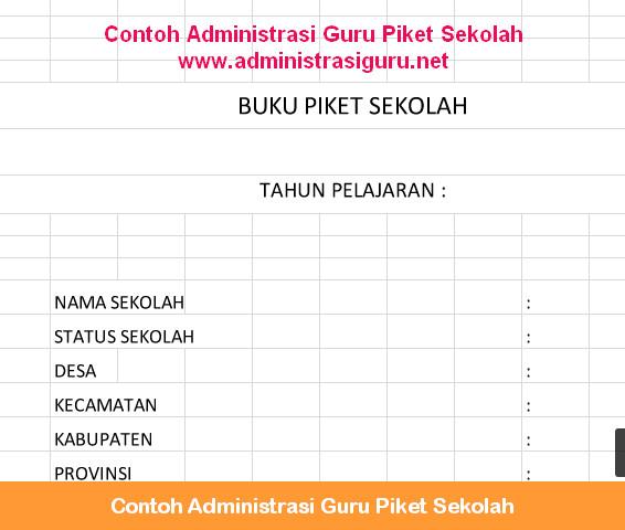 Contoh Administrasi Guru Piket Sekolah