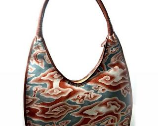 model tas batik kombinasi kulit