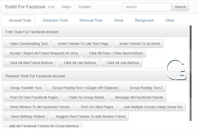 اضافة شاملة على جوجل كروم لتنفيذ الكثير من المهام على الفيس بوك
