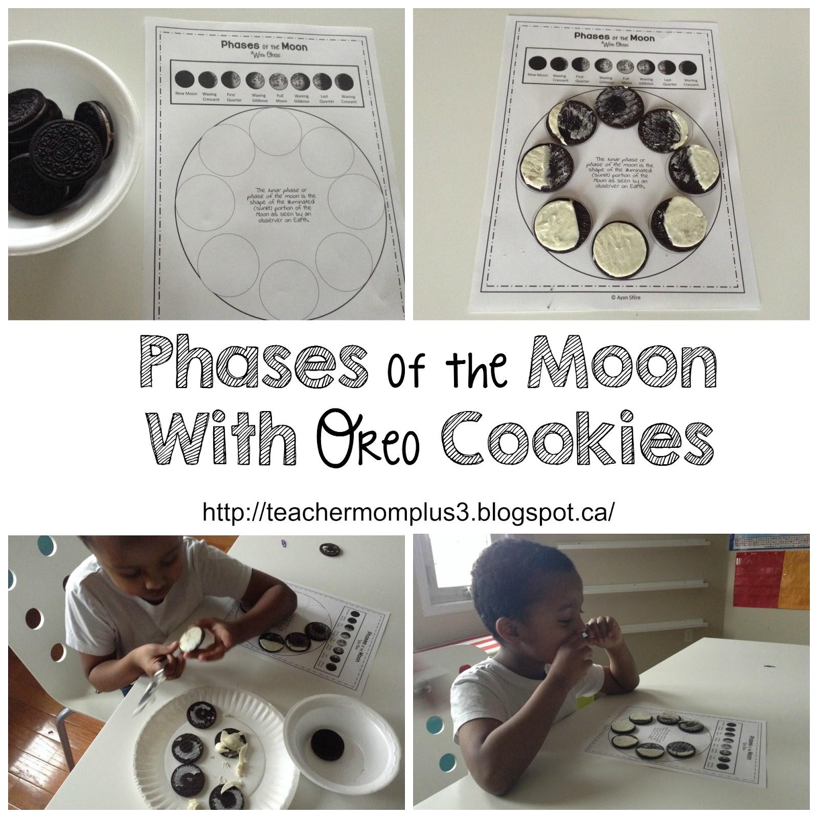 Teachermomplus3 Phases Of The Moon With Oreos