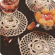 Porta-vasos color crudo a Crochet