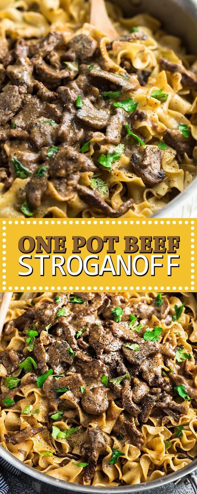 ONE POT BEEF STROGANOFF
