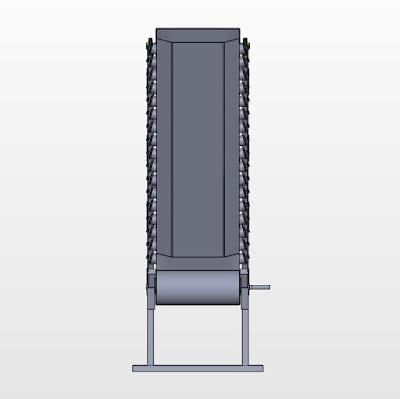3D Model | BELT CONVEYOR | TROUGH TYPE ROLLER BASED CONVEYOR