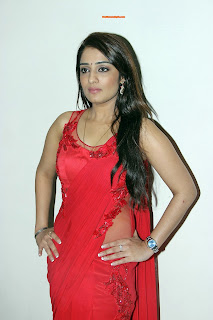 Nikitha Hot red dress