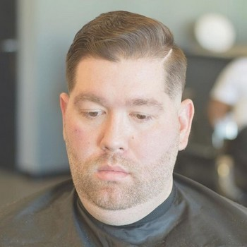 potongan rambut muka bulat dan badan gemuk